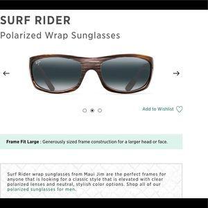 NEW MAUI JIM SUNGLASS —SURF RIDER MODEL
